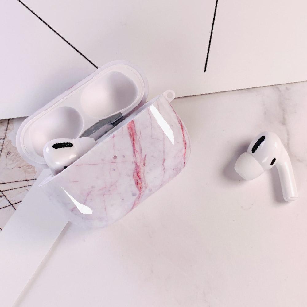 HongMan|大理石紋 AirPods Pro 防塵耐磨保護套 赭白款