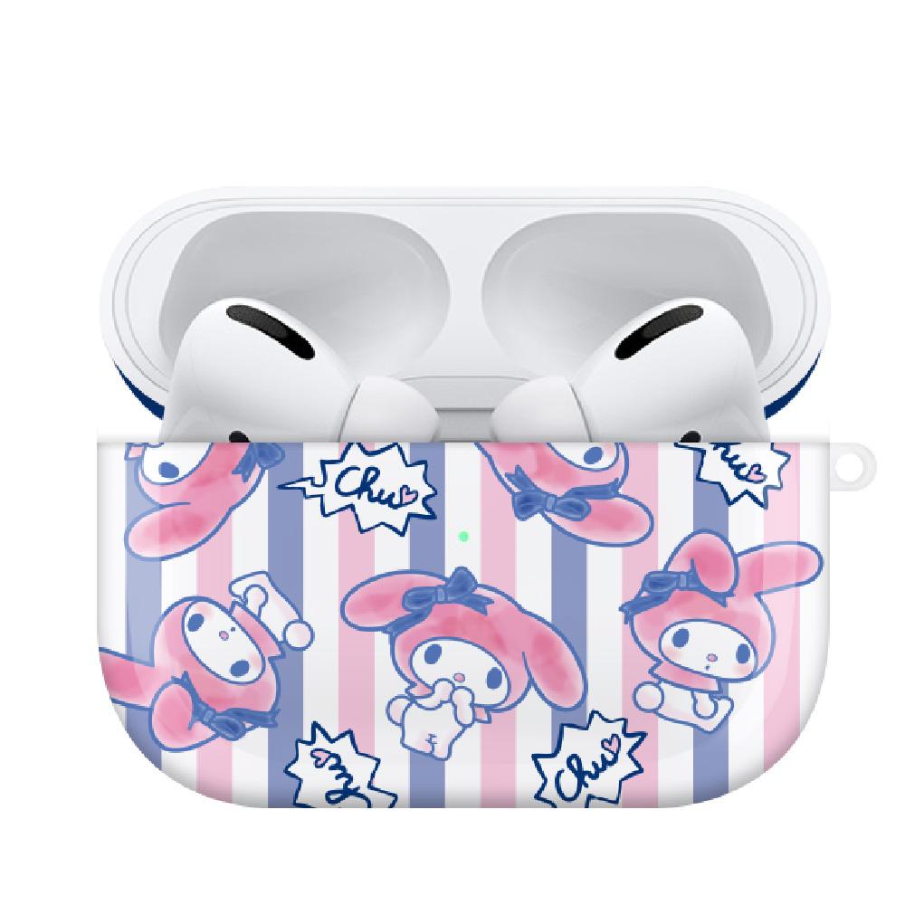HongMan 三麗鷗系列 Airpods Pro 耳機保護套 美樂蒂 簡約條紋