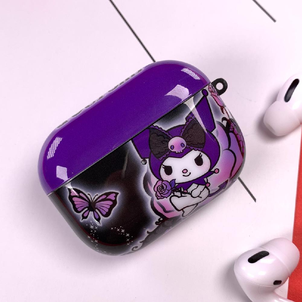 HongMan|三麗鷗系列 Airpods Pro 耳機保護套 酷洛米 神秘紫蝶