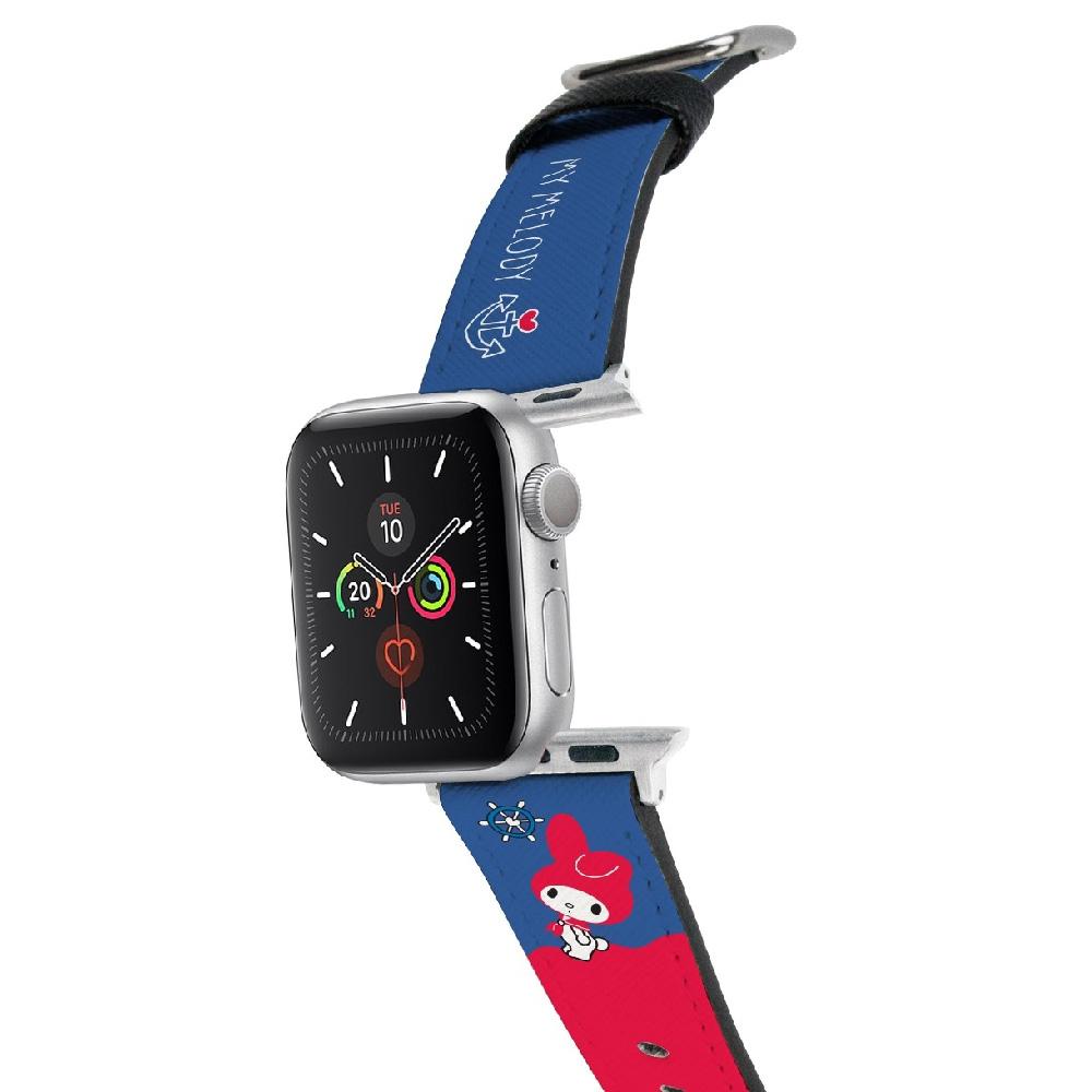 HongMan 三麗鷗系列 Apple Watch 皮革錶帶 美樂蒂 42/44mm