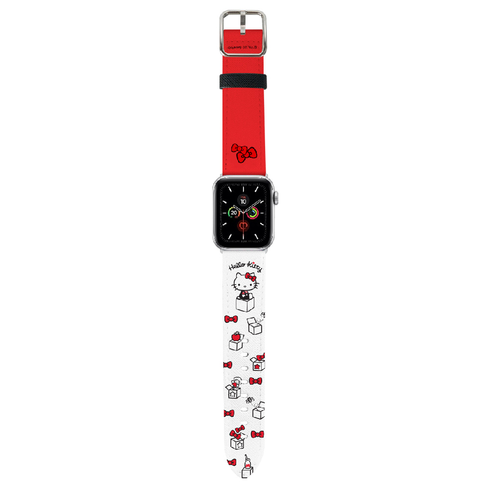 HongMan|三麗鷗系列 Apple Watch 皮革錶帶 Hello Kitty 42/44mm