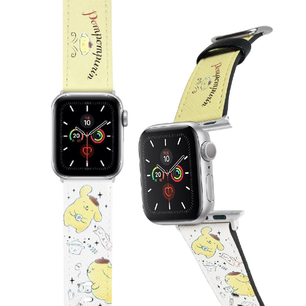 HongMan|三麗鷗系列 Apple Watch 皮革錶帶 布丁狗 42/44mm