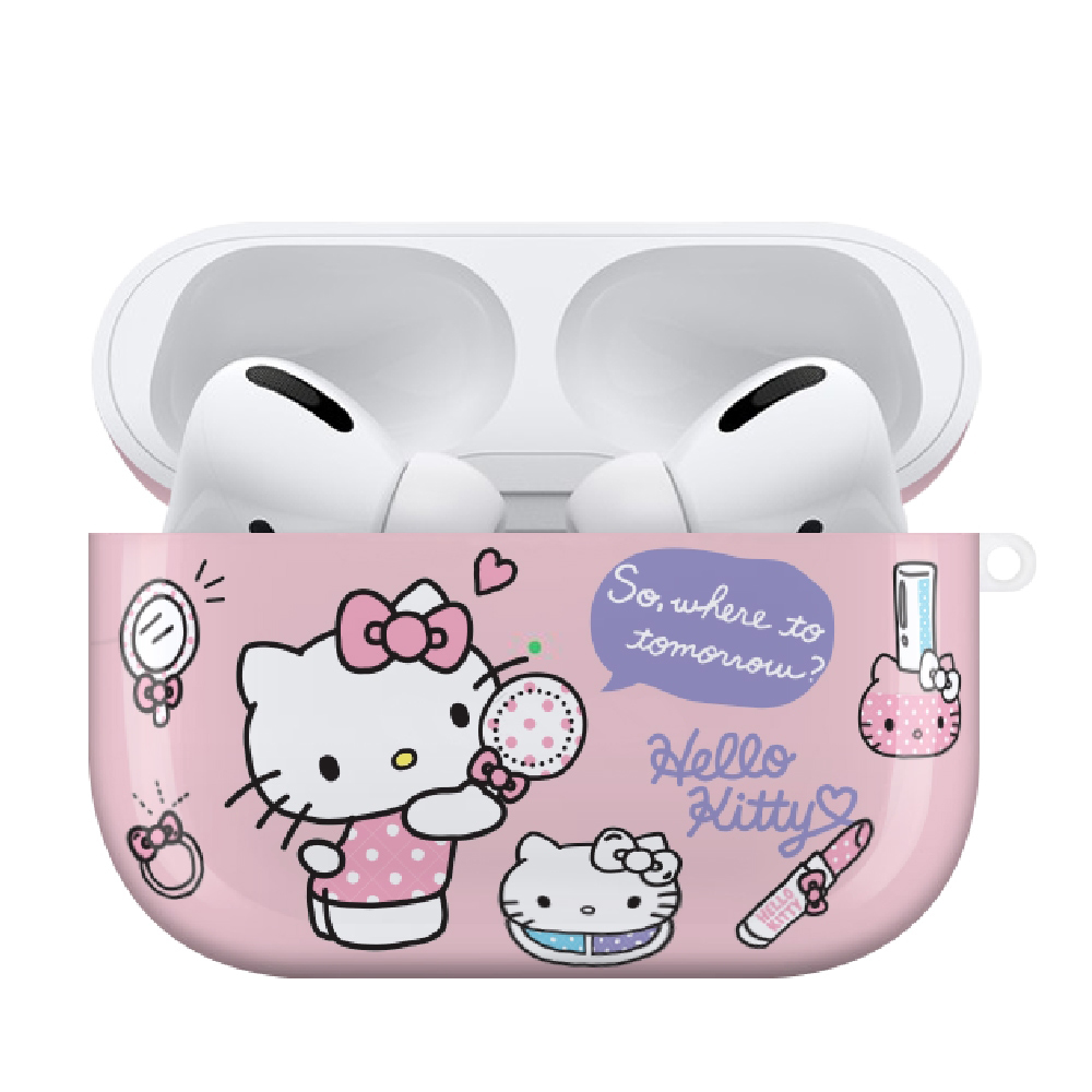 HongMan 三麗鷗系列 Airpods Pro 耳機保護套 凱蒂貓 彩妝派對