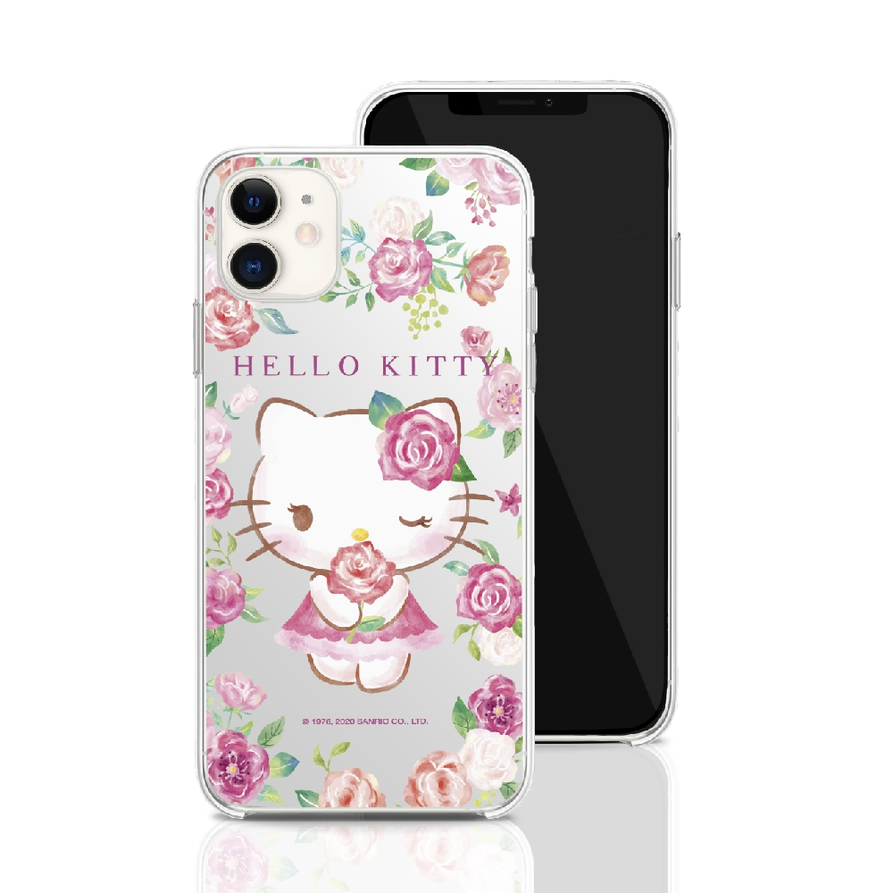 HongMan 三麗鷗系列 iPhone 11 Pro Max 6.5吋 手機殼套裝組 凱蒂貓 ROSE KITTY