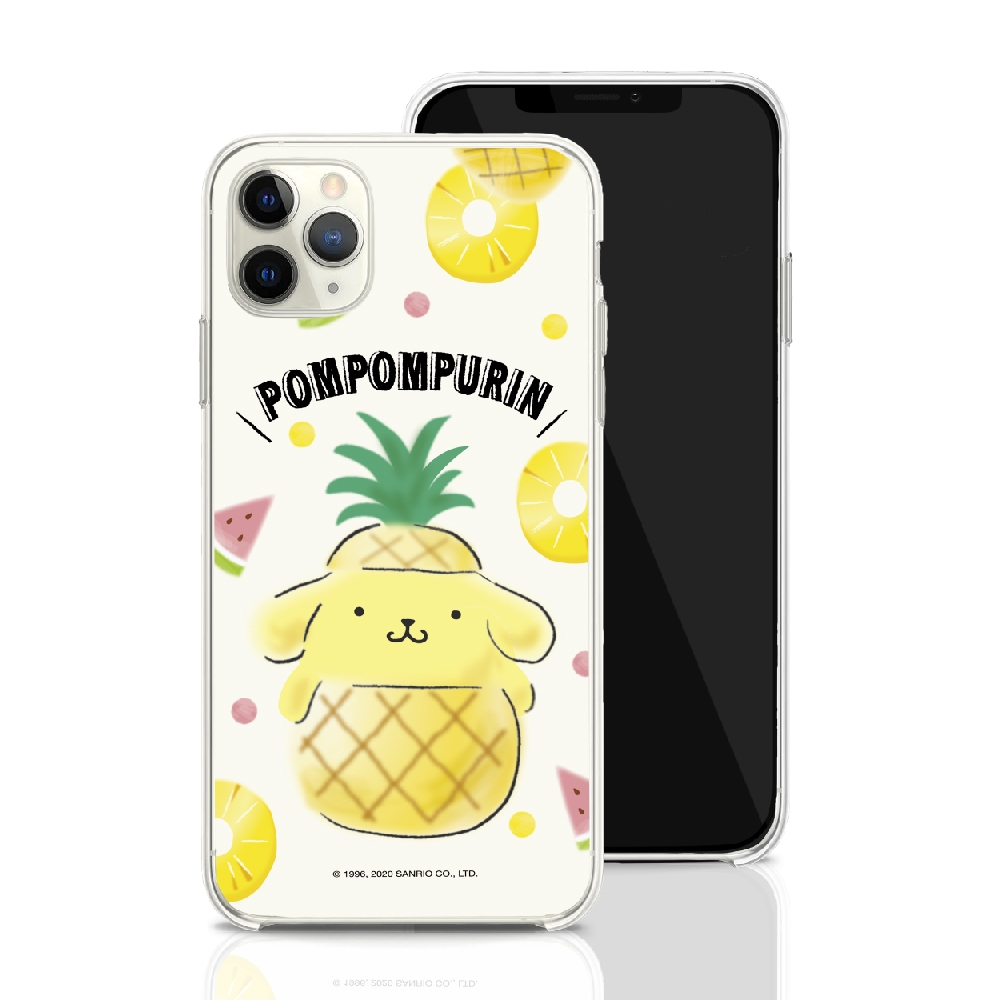 HongMan|三麗鷗系列 iPhone SE 4.7吋 手機殼套裝組 Pompompurin 鳳梨布丁狗