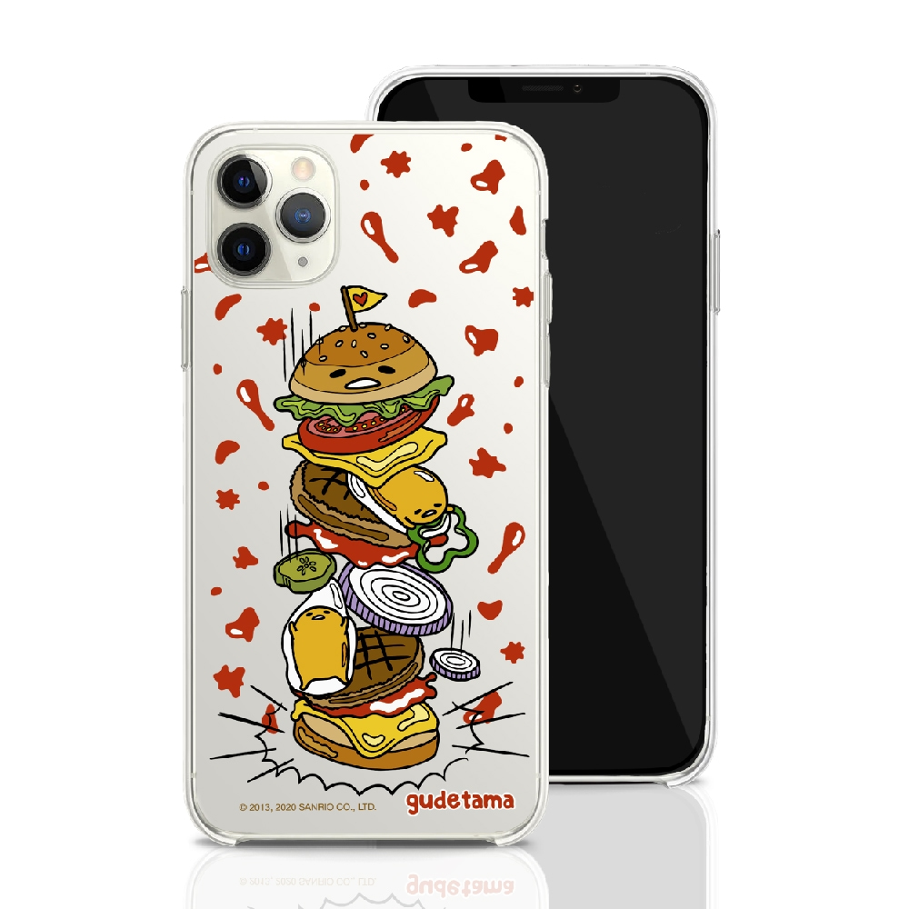 HongMan 三麗鷗系列 iPhone 11 Pro Max 6.5吋 手機殼套裝組 蛋黃哥 千層漢堡