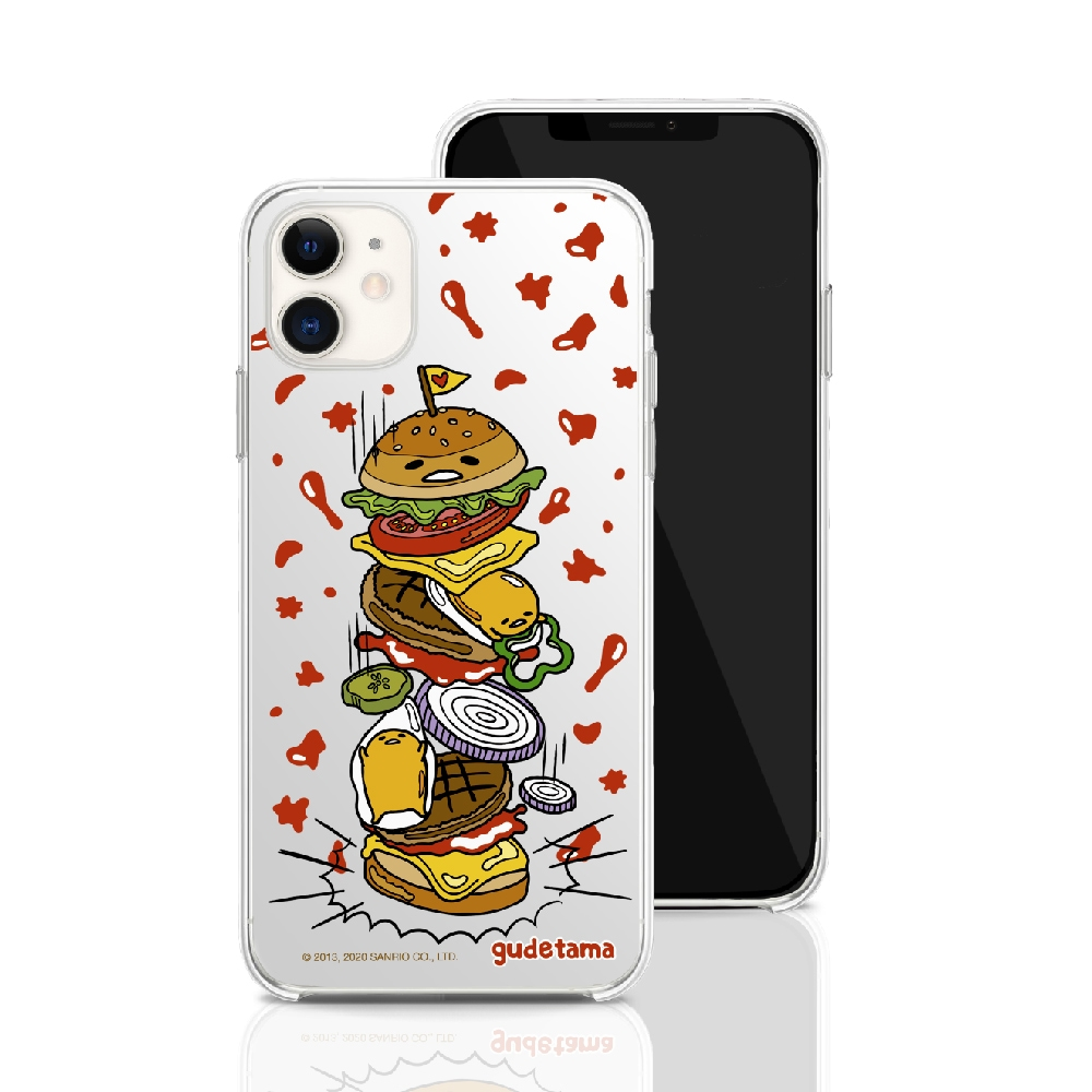 HongMan|三麗鷗系列 iPhone SE 4.7吋 手機殼套裝組 蛋黃哥 千層漢堡