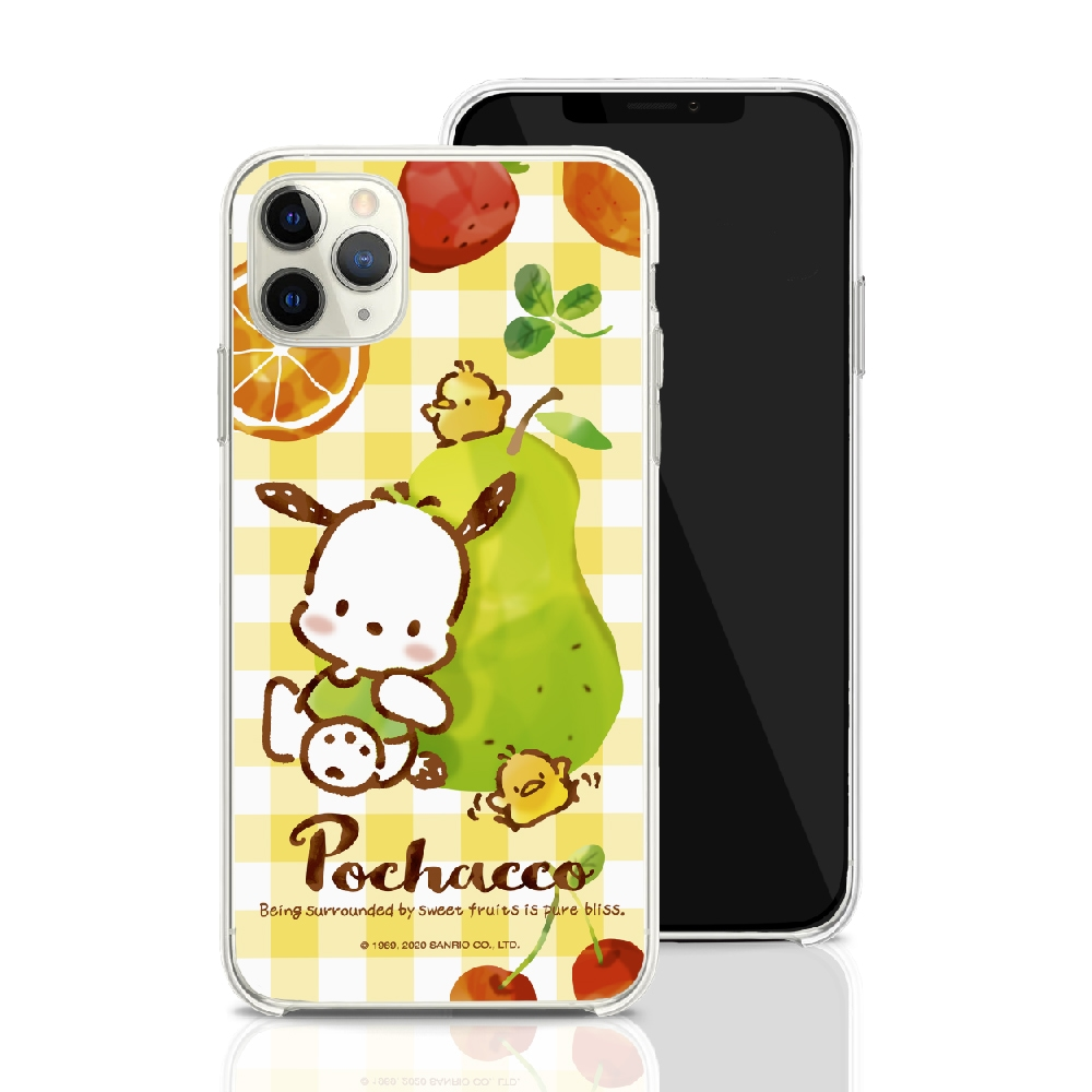 HongMan|三麗鷗系列 iPhone 11 Pro Max 6.5吋 手機殼套裝組 帕洽狗 水果甜心