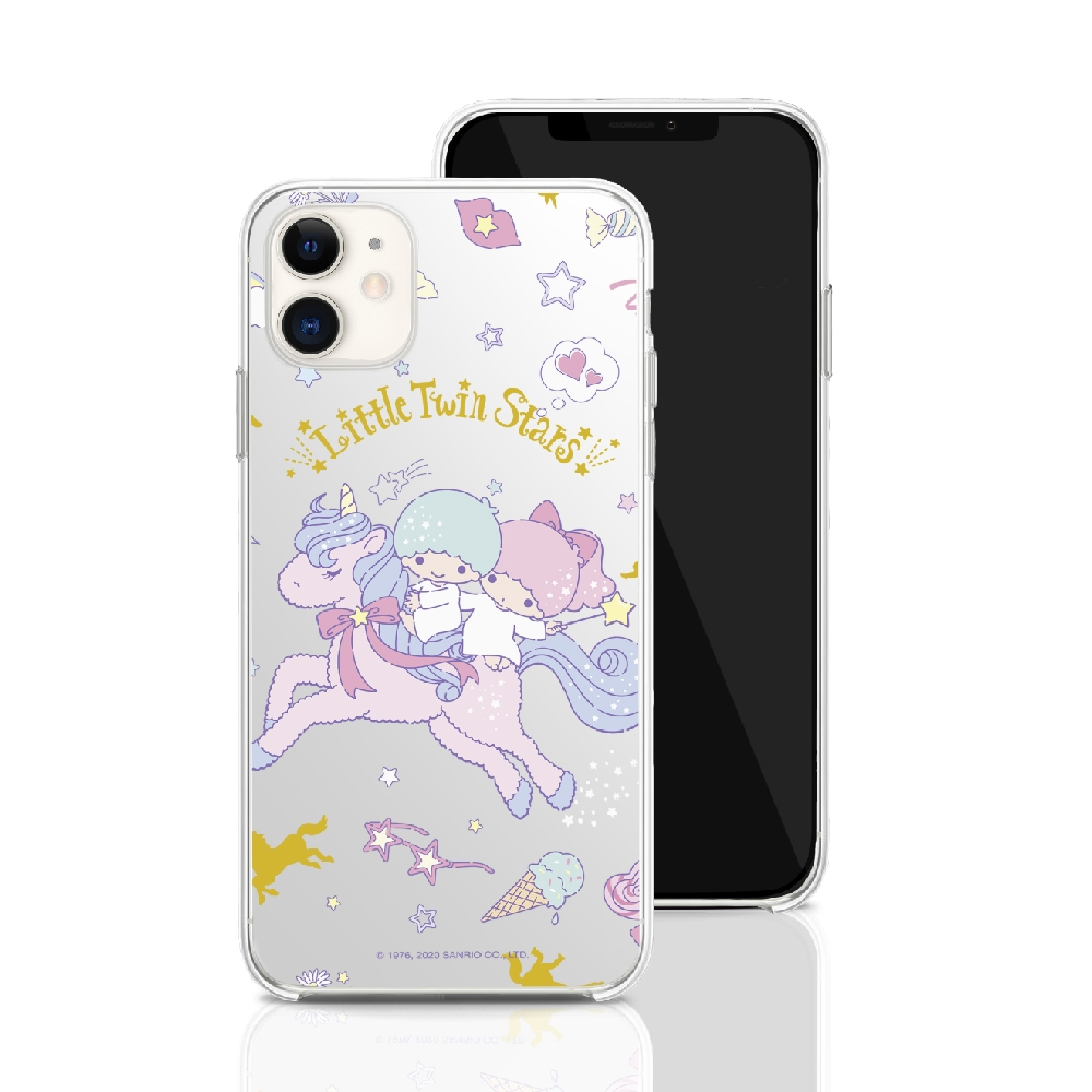 HongMan 三麗鷗系列 iPhone 11 6.1吋 手機殼套裝組 雙子星 獨角獸樂園