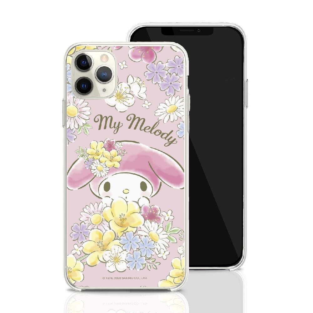 HongMan|三麗鷗系列 iPhone 11 6.1吋 手機殼套裝組 美樂蒂 花兒朵朵
