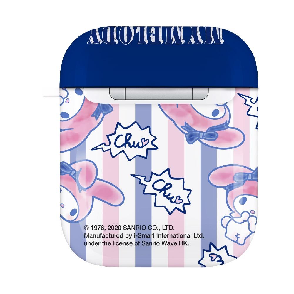 HongMan|三麗鷗系列 AirPods防塵耐磨保護套 My Melody 簡約條紋