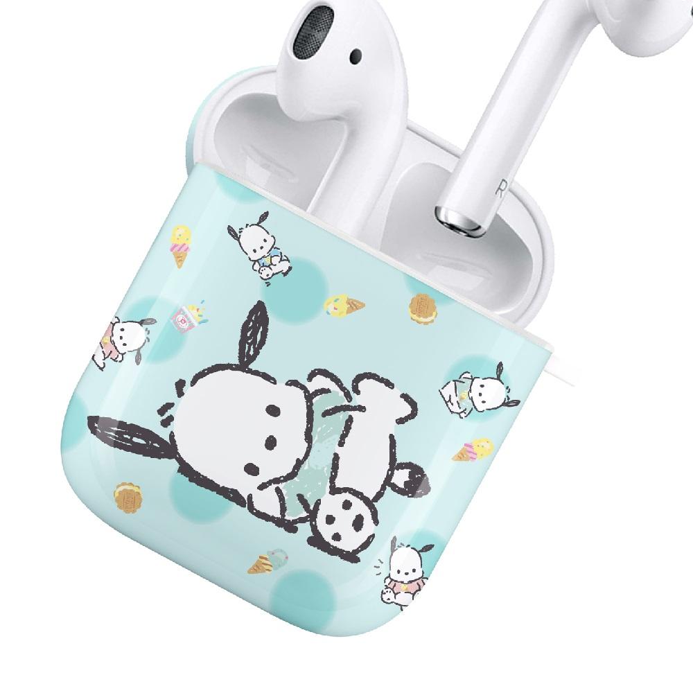 HongMan|三麗鷗系列 AirPods防塵耐磨保護套 帕恰狗 薄荷冰淇淋
