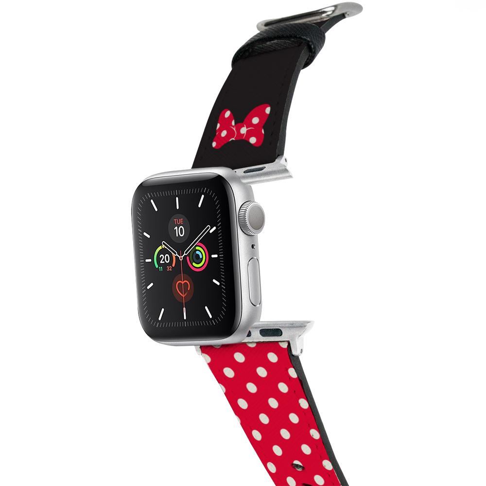 HongMan|迪士尼系列 Apple Watch 皮革錶帶 經典米妮 42/44mm