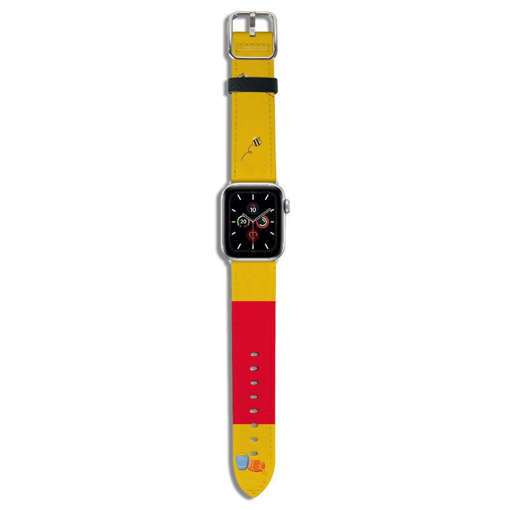 HongMan|迪士尼系列 Apple Watch 皮革錶帶 經典維尼 42/44mm