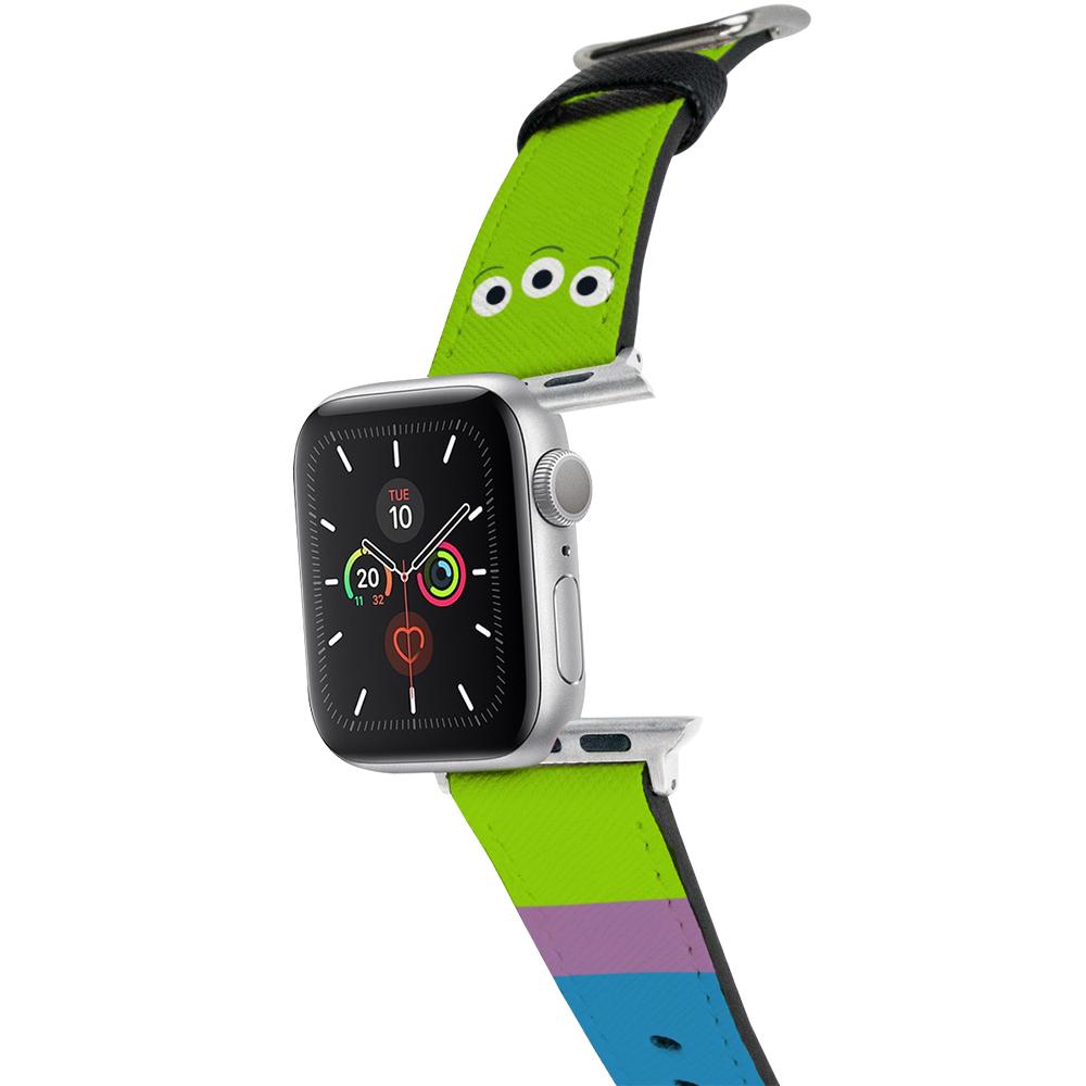 HongMan|迪士尼系列  Apple Watch 皮革錶帶 經典三眼怪 42/44mm