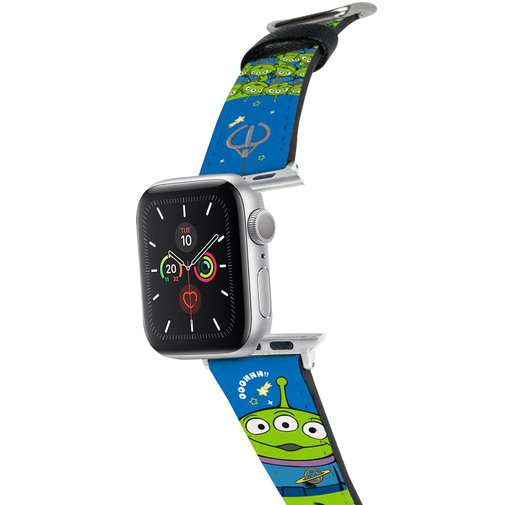 HongMan 迪士尼系列  Apple Watch 皮革錶帶 抓抓三眼怪 42/44mm
