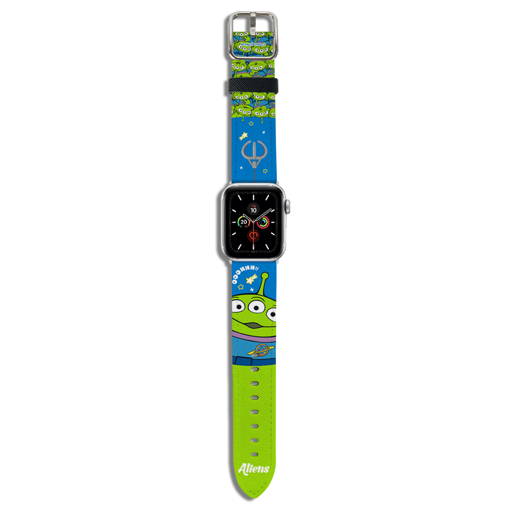 HongMan|迪士尼系列  Apple Watch 皮革錶帶 抓抓三眼怪 42/44mm