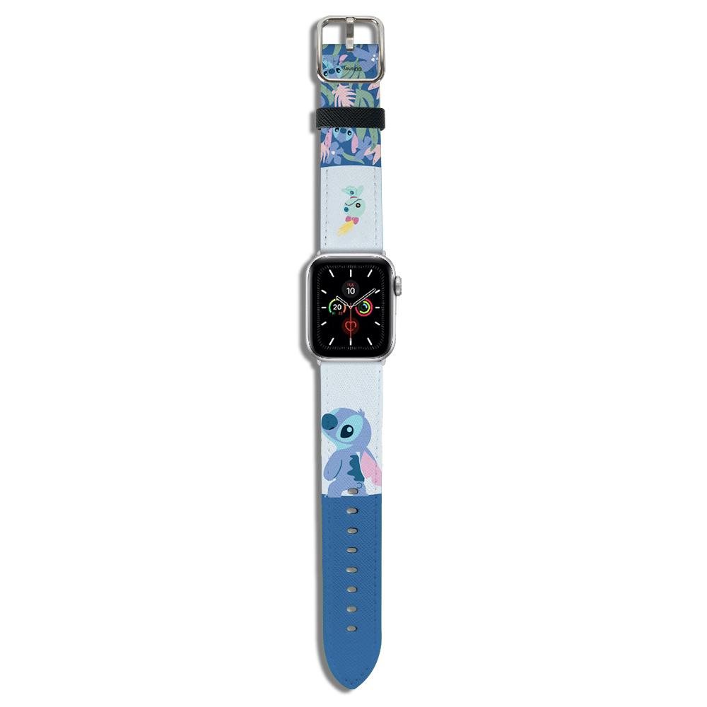 HongMan|迪士尼系列  Apple Watch 皮革錶帶 Stitch史迪奇 42/44mm