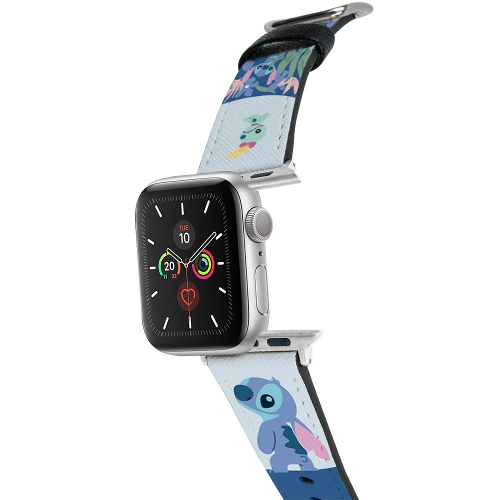 HongMan|迪士尼系列  Apple Watch 皮革錶帶 Stitch史迪奇 38/40mm