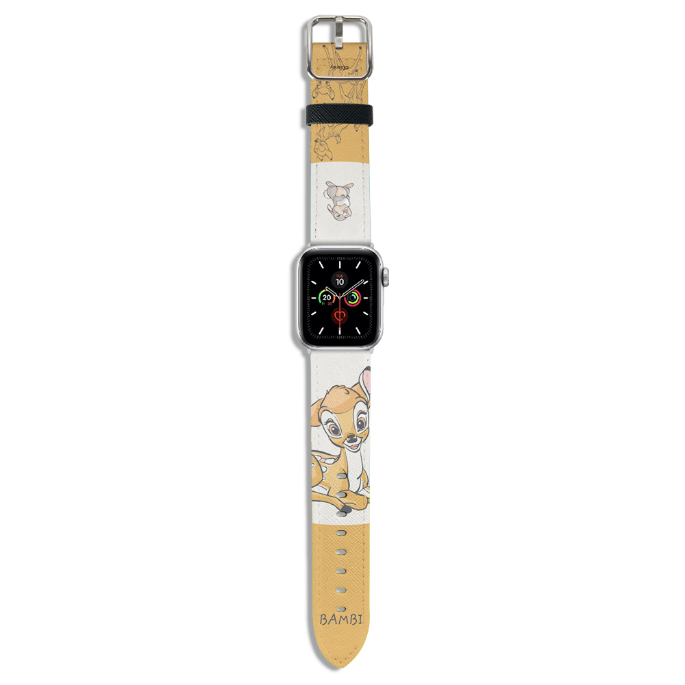 HongMan 迪士尼系列  Apple Watch 皮革錶帶 Bambi小鹿斑比 38/40mm