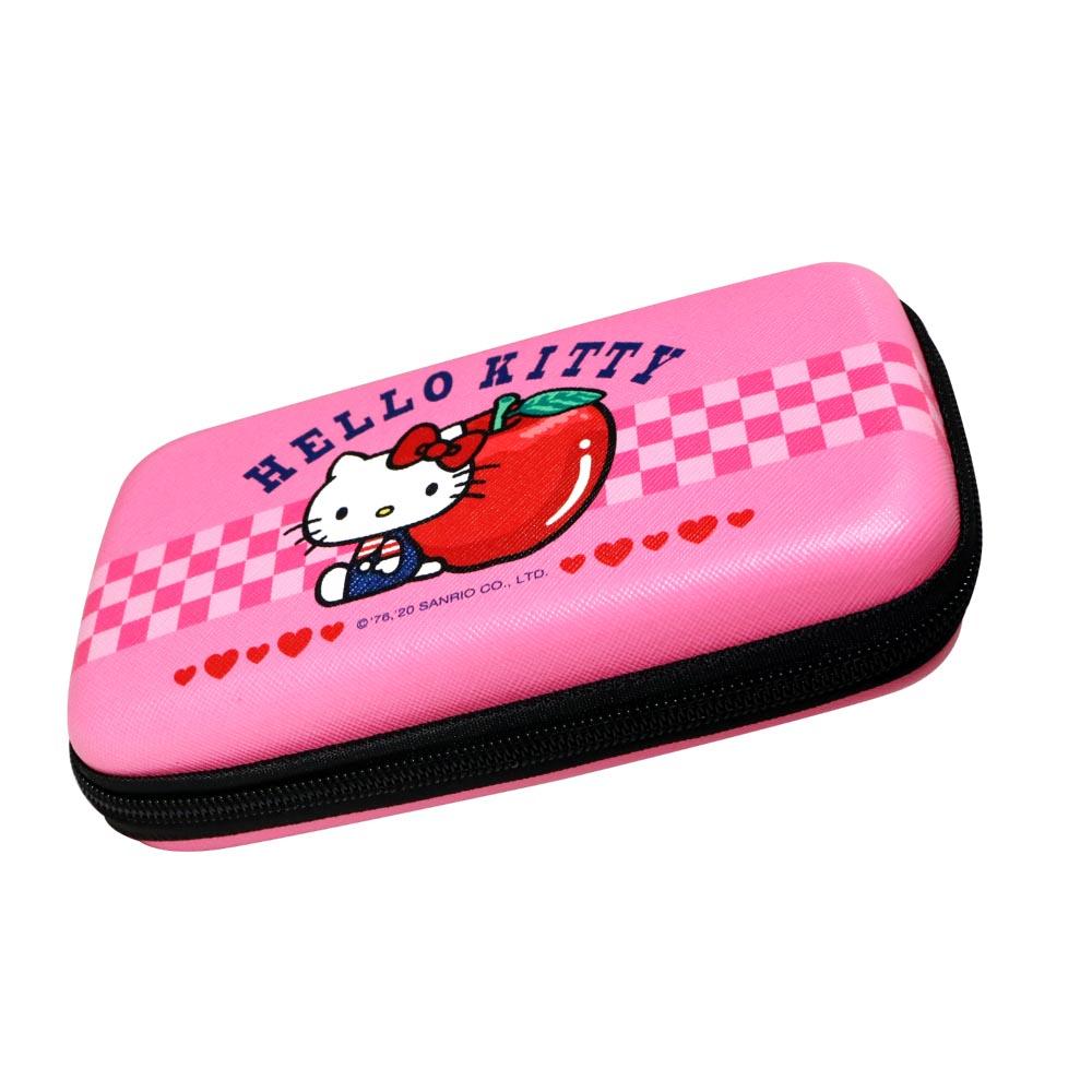 HongMan|三麗鷗系列 硬殼收納包 Hello Kitty與蘋果
