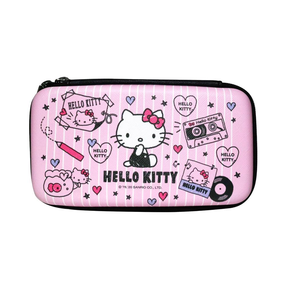 HongMan|三麗鷗系列 硬殼收納包 Hello Kitty 素描畫