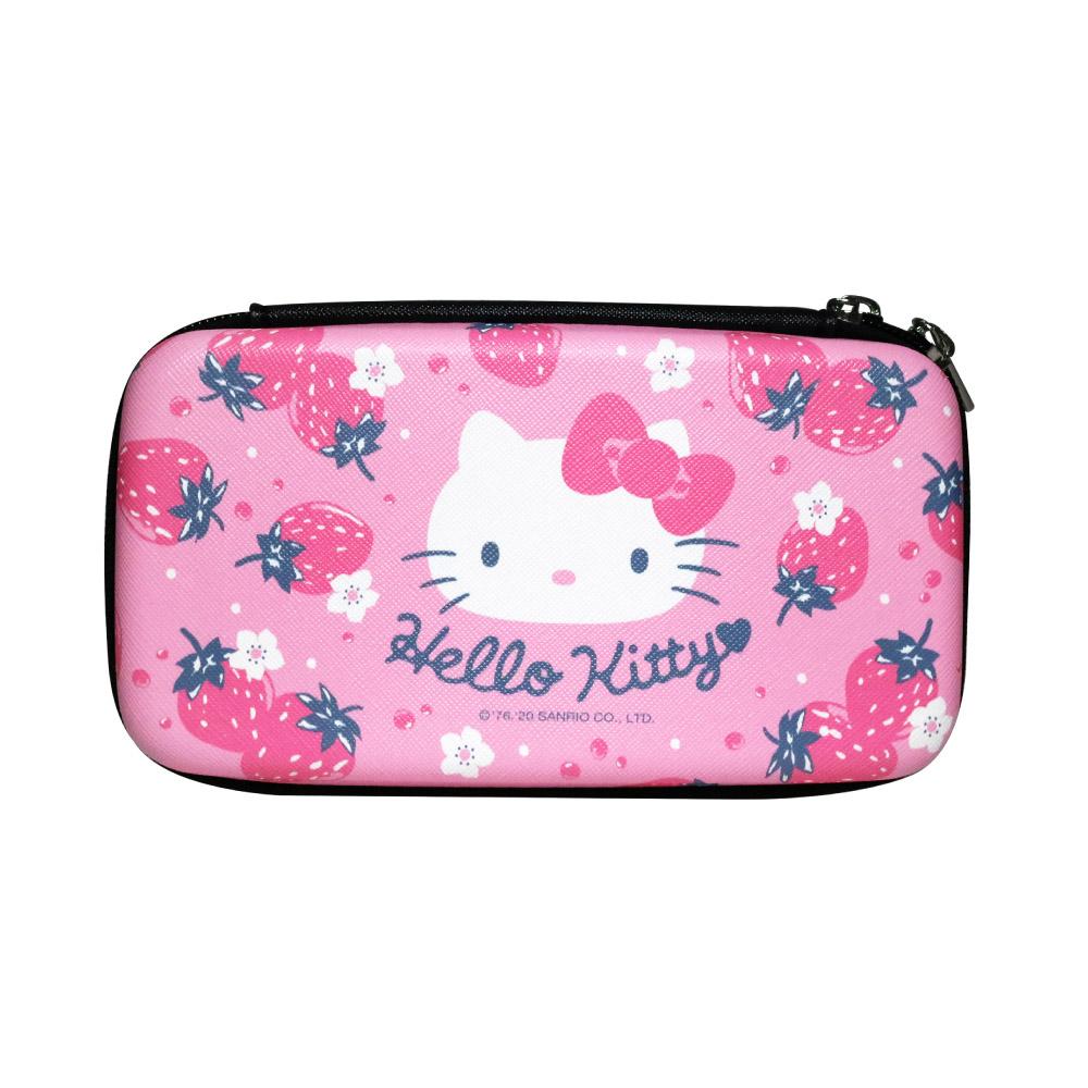 HongMan|三麗鷗系列 硬殼收納包 Hello Kitty 草莓