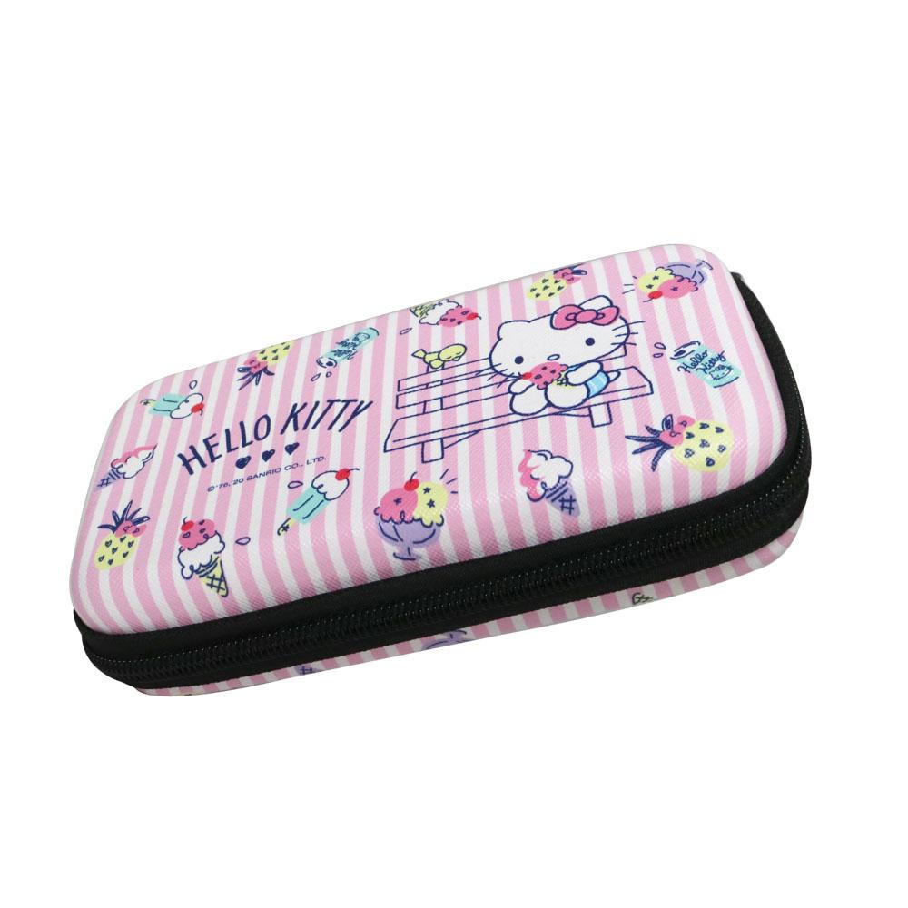HongMan|三麗鷗系列 硬殼收納包 Hello Kitty 冰淇淋