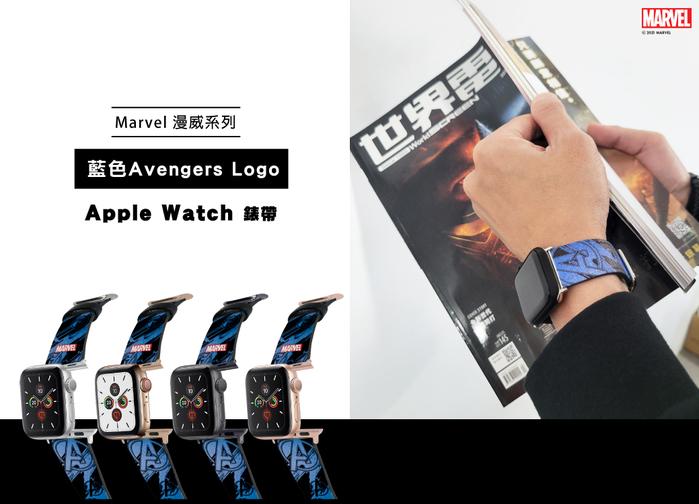 (複製)HongMan 漫威系列 Apple Watch 皮革錶帶 紅色Marvel Logo