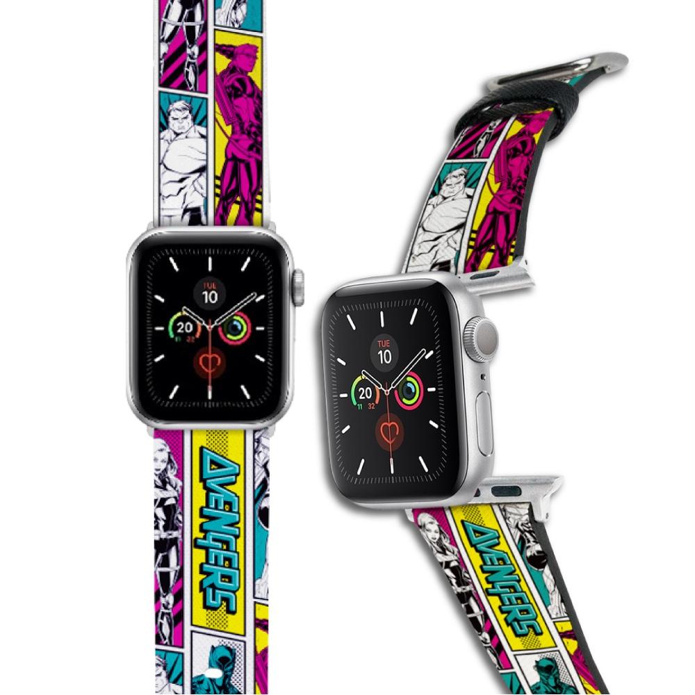 HongMan 漫威系列 Apple Watch 皮革錶帶 彩色漫畫風Avengers
