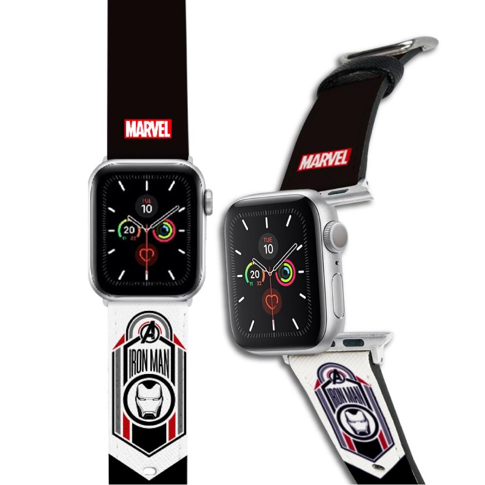 HongMan|漫威系列 Apple Watch 皮革錶帶 鋼鐵人