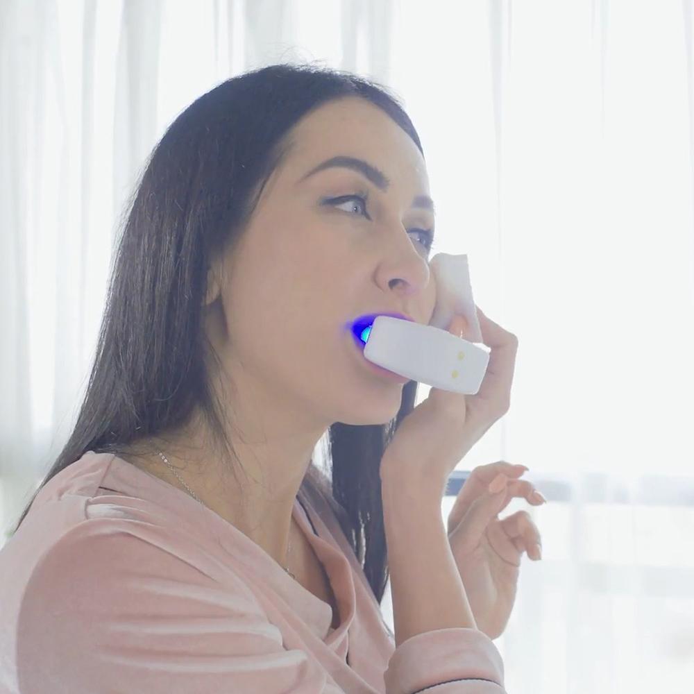 V-White|免持變頻電動牙刷(粉藍色)