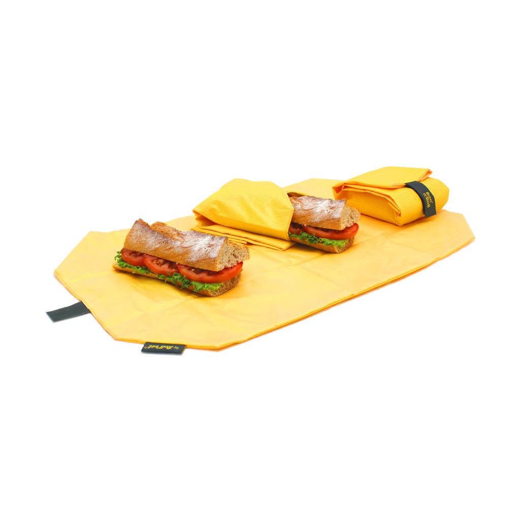 Roll′eat | 西班牙食物袋 搖滾輕食袋-細方格系列(陽光黃)