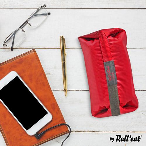 Roll′eat | 西班牙二合一餐袋-細方格系列(魔力紅)