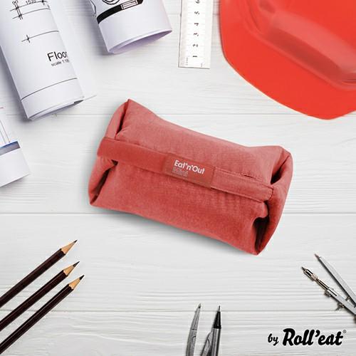 Roll′eat | 西班牙二合一餐袋-馬卡龍系列(珊瑚紅)
