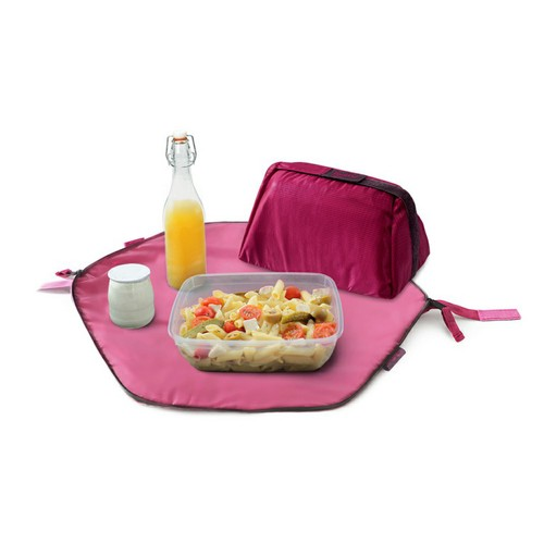 Roll′eat | 西班牙二合一餐袋-細方格系列(魅力桃紅)