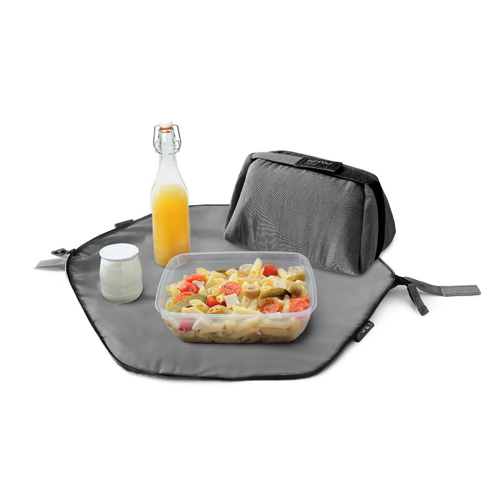Roll′eat | 西班牙二合一餐袋-馬卡龍系列(低調灰)