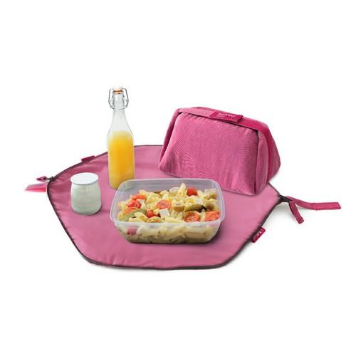 Roll′eat   西班牙二合一餐袋-馬卡龍系列(玫瑰紅)