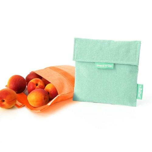 Roll′eat   西班牙食物袋 吃貨零食袋(M)-馬卡龍(薄荷綠)