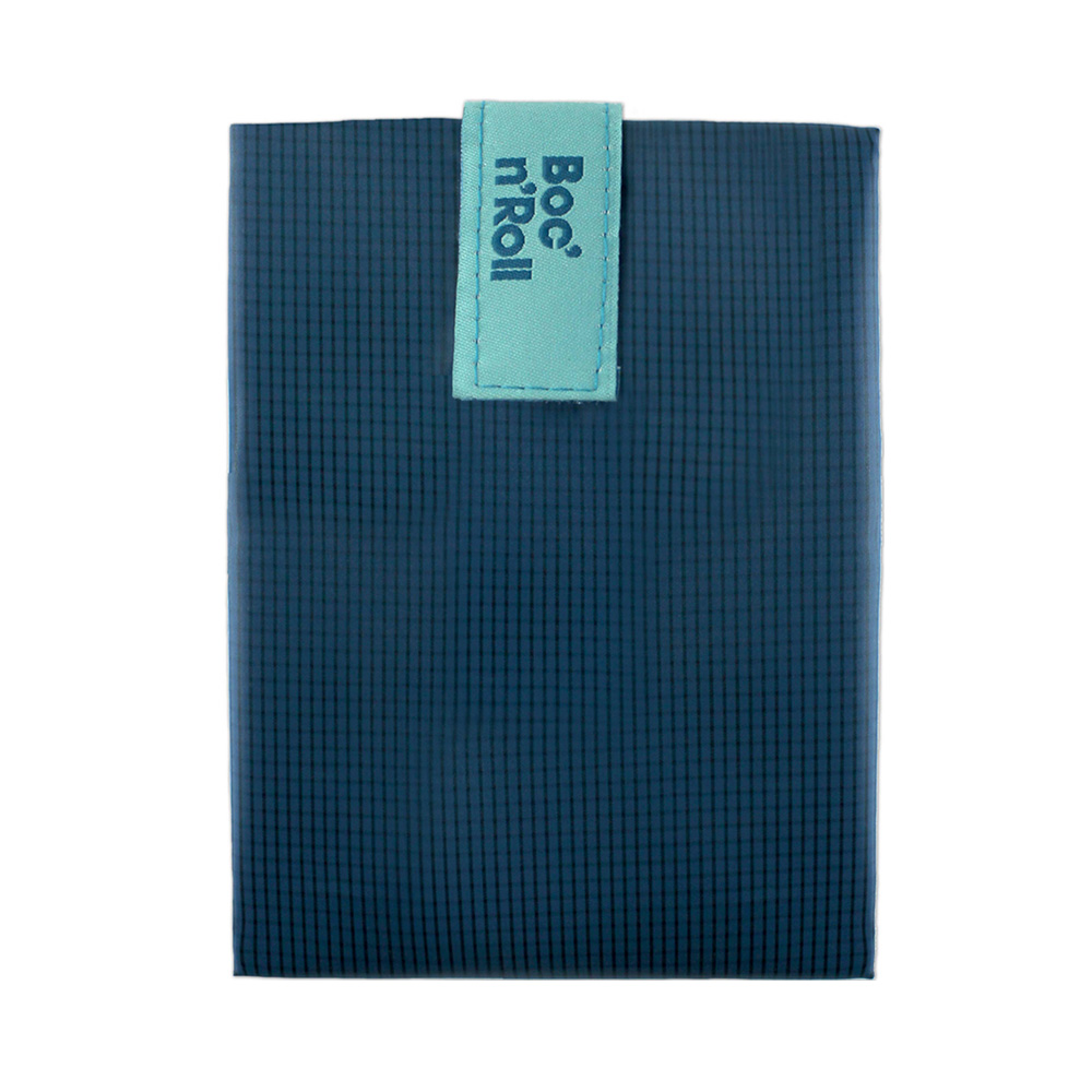 Roll′eat | 西班牙食物袋 搖滾輕食袋-細方格系列(深海藍)