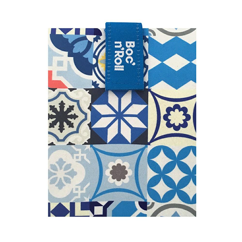 Roll′eat | 西班牙食物袋 搖滾輕食袋-拼布系列(拼布藍)