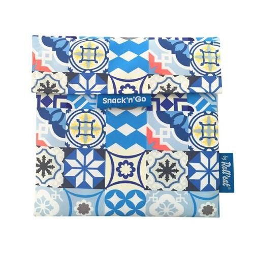 Roll′eat | 西班牙食物袋 吃貨零食袋(M)-拼布(拼布藍)