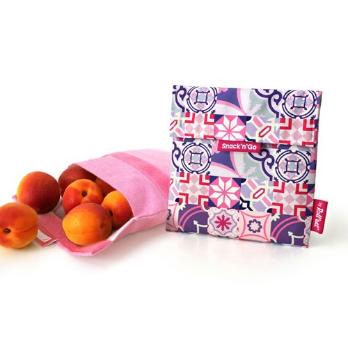 Roll′eat | 西班牙食物袋 吃貨零食袋(M)-拼布(拼布粉)