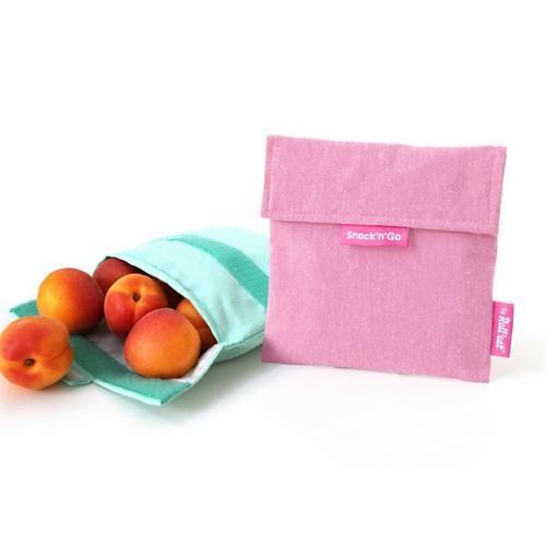 Roll′eat   西班牙食物袋 吃貨零食袋(M)-馬卡龍(櫻花粉)