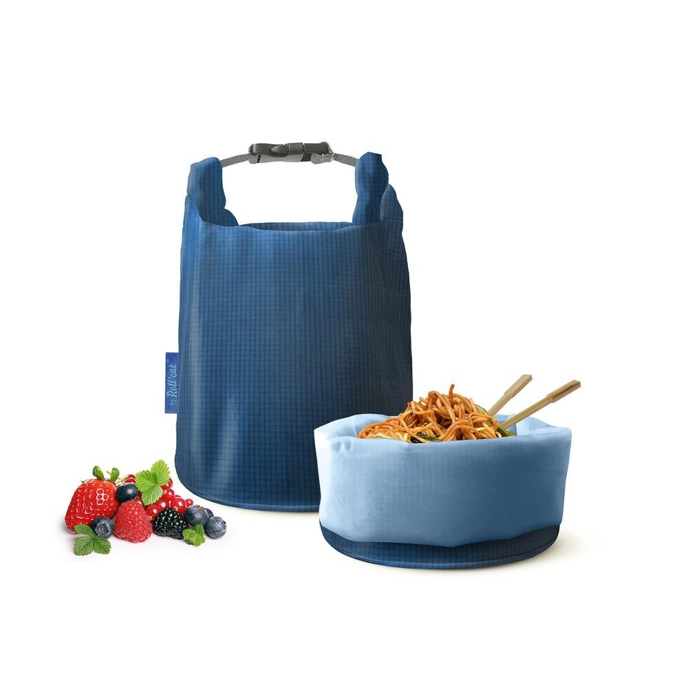 Roll′eat | 西班牙食物袋 桶裝食物袋-印花(細方格藍)