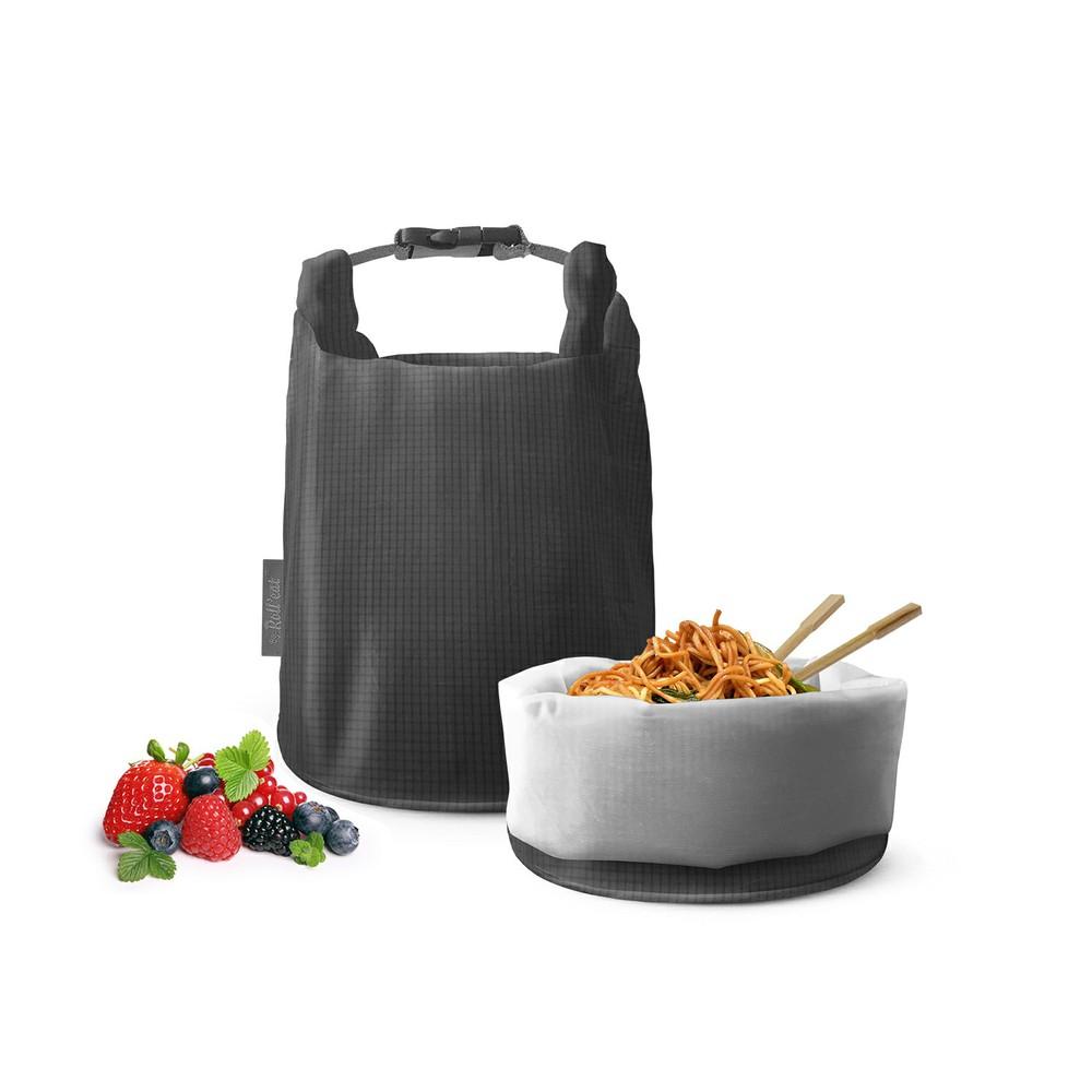 Roll′eat   西班牙食物袋 桶裝食物袋-細方格灰