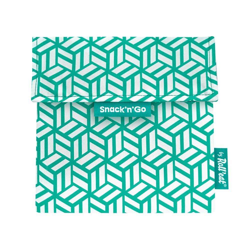 Roll′eat | 西班牙食物袋 吃貨零食袋(M)-幾何(幾何綠)