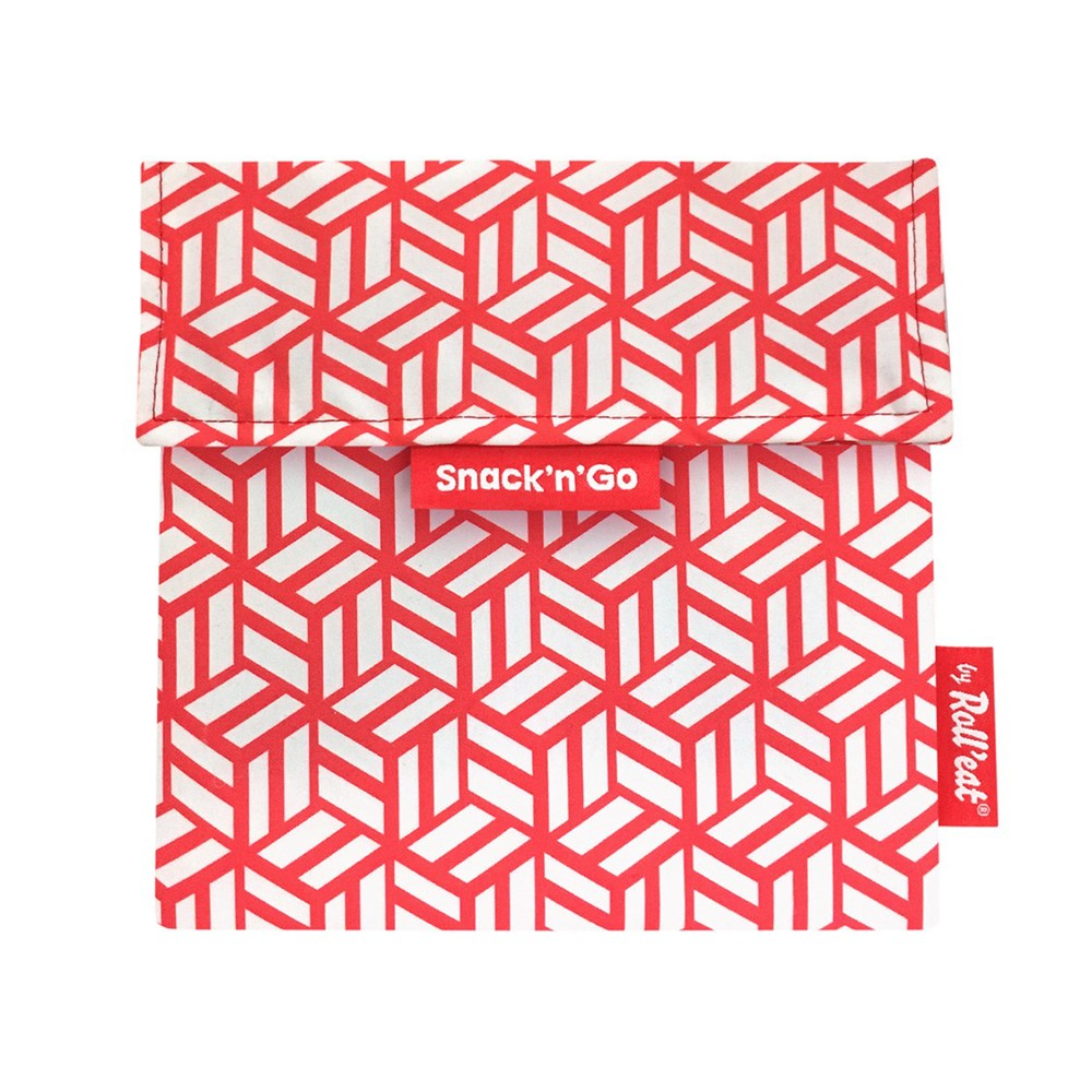 Roll′eat | 西班牙食物袋 吃貨零食袋(M)-幾何(幾何紅)