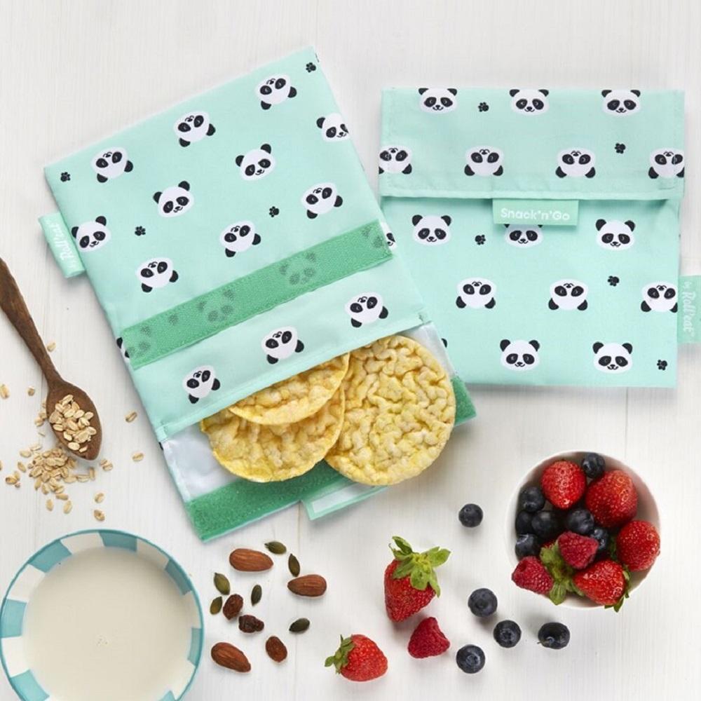 Roll′eat | 西班牙食物袋 吃貨零食袋(M)-可愛熊貓仔