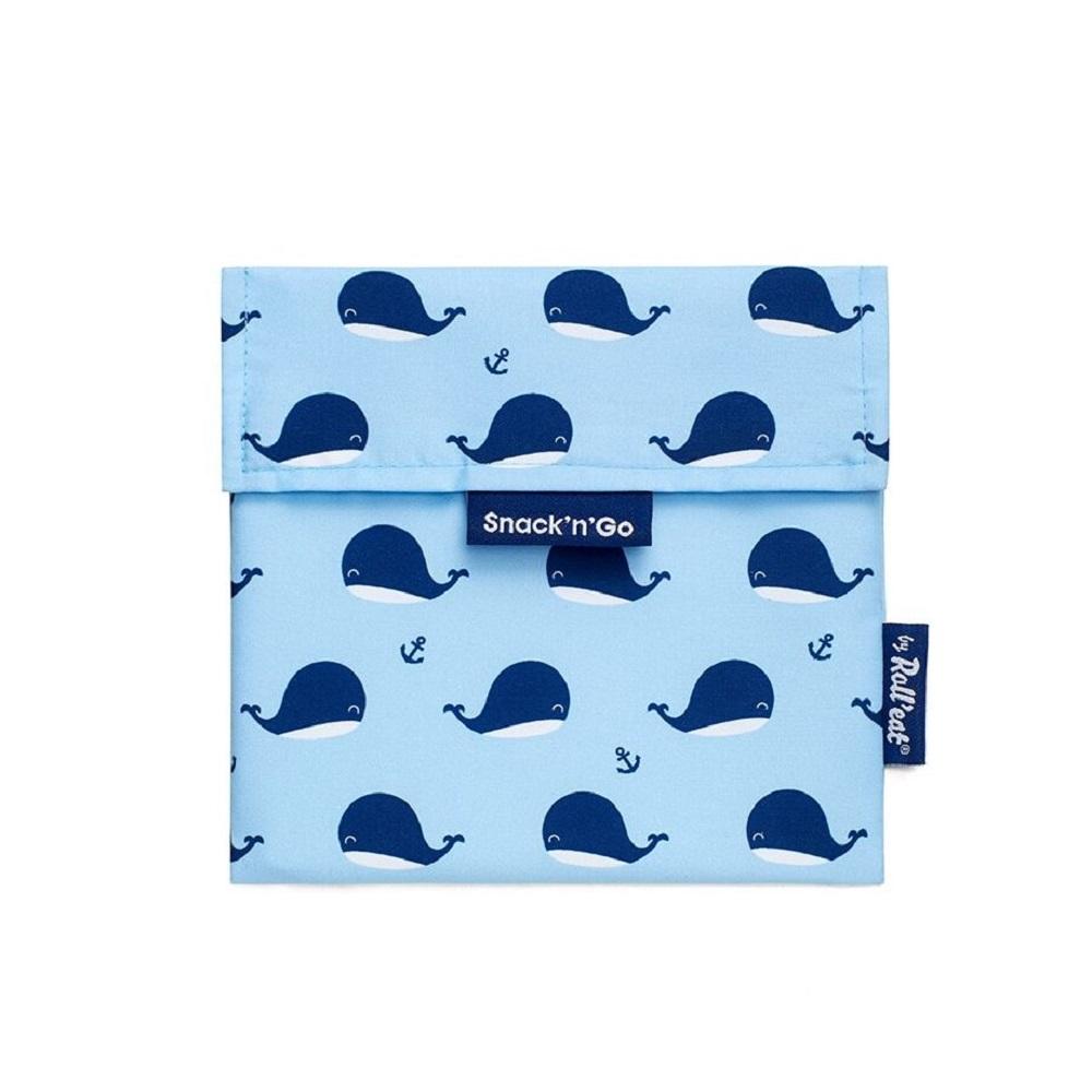 Roll′eat | 西班牙食物袋 吃貨零食袋(M)-悠遊小藍鯨